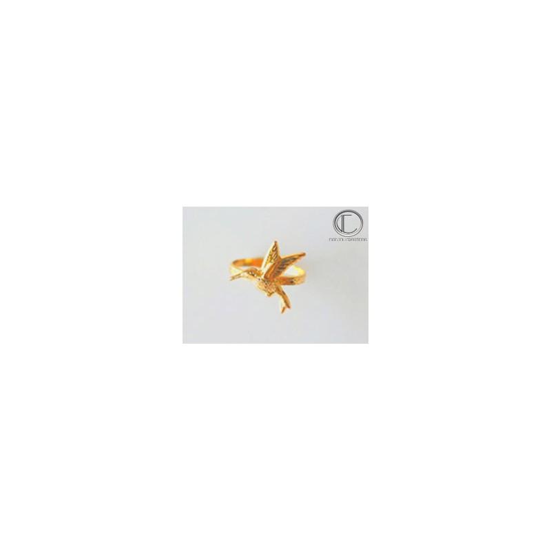 Anillo de Pica flor.Or 750/1000