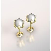 Hoop Earrings pearl.Or 750/1000