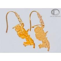 Card Earrings.Gold 750/1000