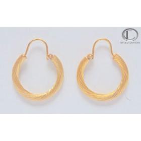 Boucles d'oreilles créoles.Or 750/1000