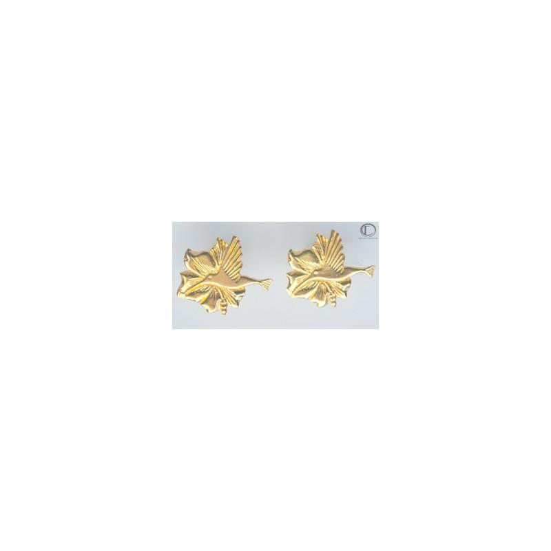 Boucles d' oreilles colibris.OR 750/1000