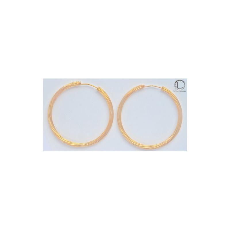 Boucles d' oreilles créoles.Or 750/1000