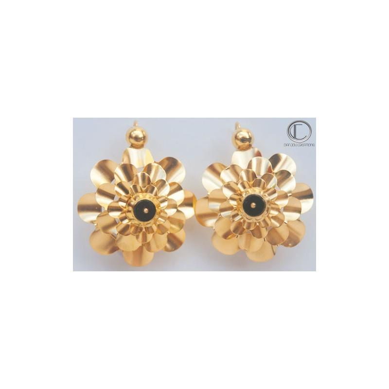 Boucles d' oreilles Nid de guèpes.Or 750/1000