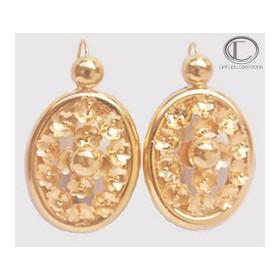 CUSTARD APPLE EARRINGS.GOLD 750/1000