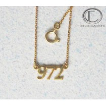 Card necklaces.Gold 750/1000
