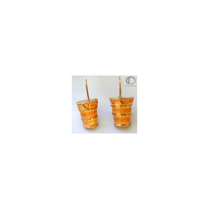 Boucles d' oreilles T ambour.Or 750/1000