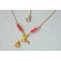 collier colilbri-hibiscus.Or 750/1000