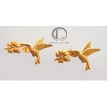 colibri-Humming-bird earrings.Gold 750/1000
