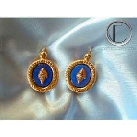 Conch earrings. Gold 750/1000