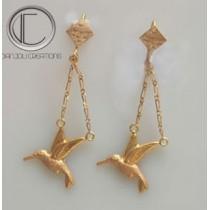Humming-bird earrings