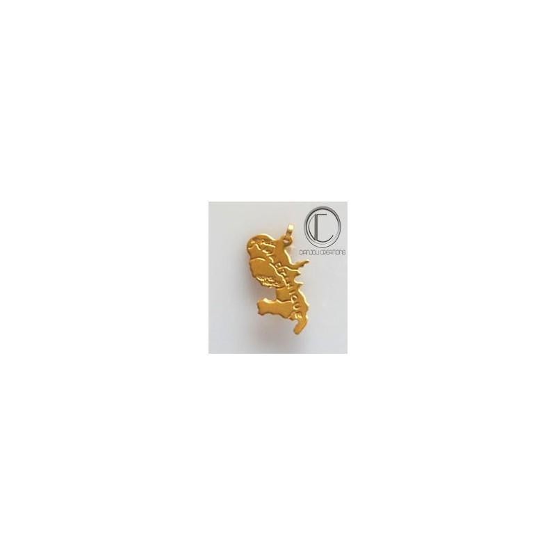 martinique card pendant.Gold 750/1000