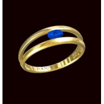 Sapphire Ring.750/1000 Gold