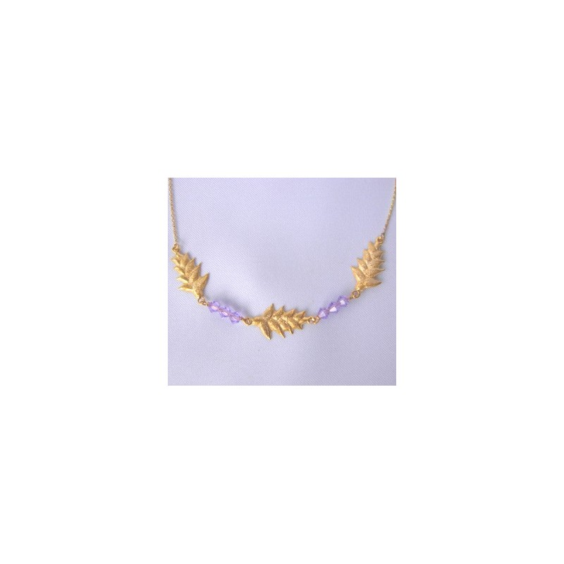 Collier balisier.Or 750/1000