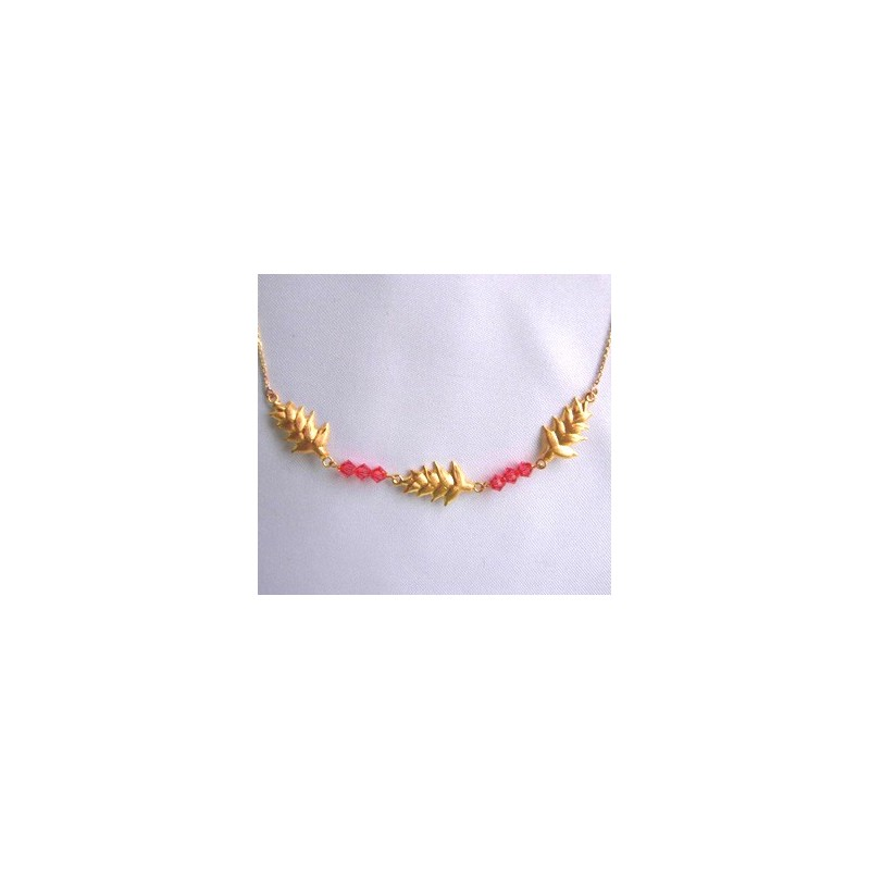Collier balisier.Or 18cts
