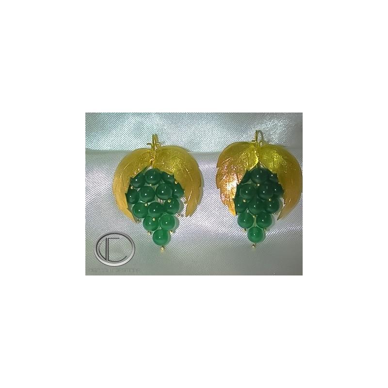 Vine Earrings.18cts Gold 750/1000
