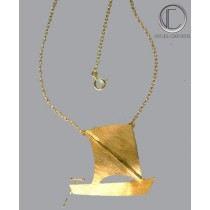 Collier yole.Or 750/1000