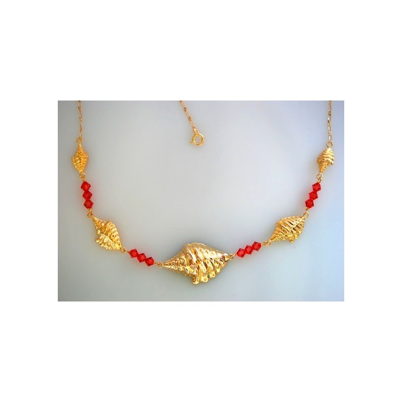 Collier conques.Or 18carats.