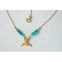 Collier colibris.Or 750/1000