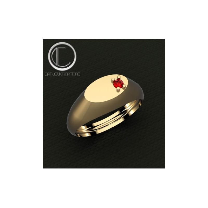 SIGNET RING.GOLD750/1000