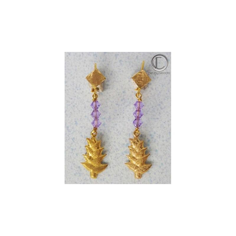 Boucles d'oreilles balisiers.OR 750/1000