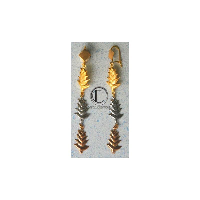 Balisier earrings.Gold750/1000