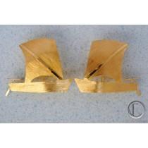 Boucles d oreilles yoles.Or 750/1000