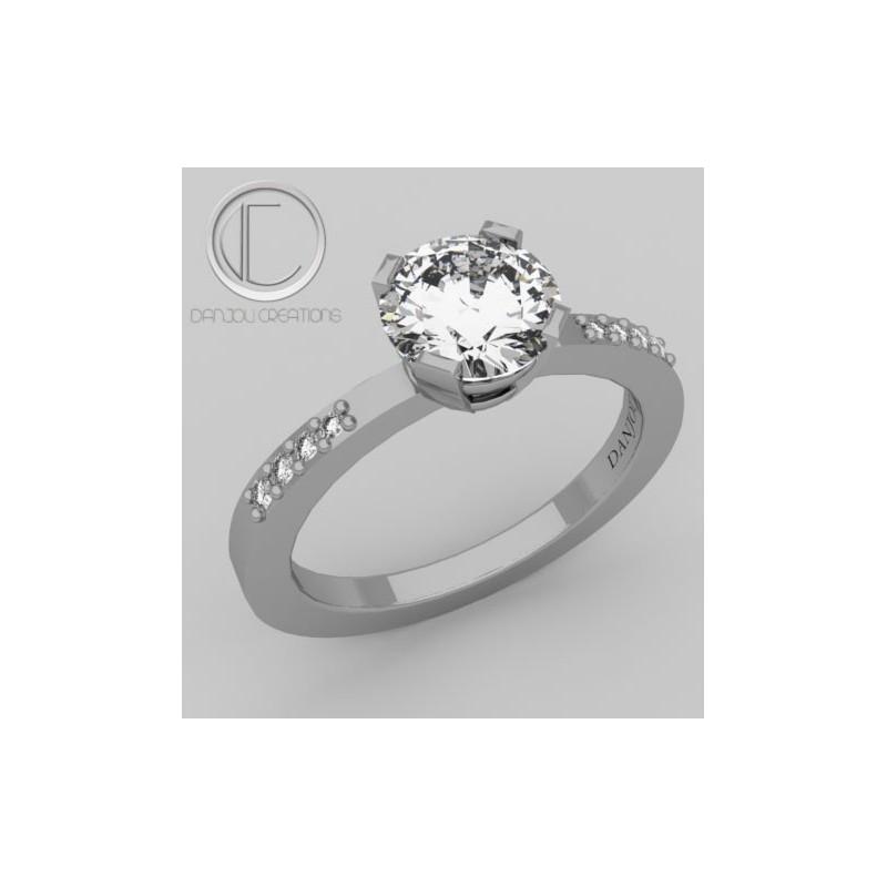 Bague Diamant .Or 750/1000