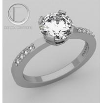 Ring diamont.750/1000 gGold