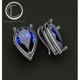 Blue Topaz london Earrings.Or 750/1000