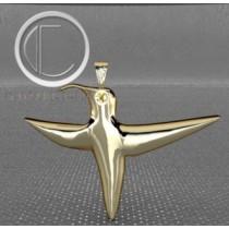 humming-bird pendant.Or 750/1000