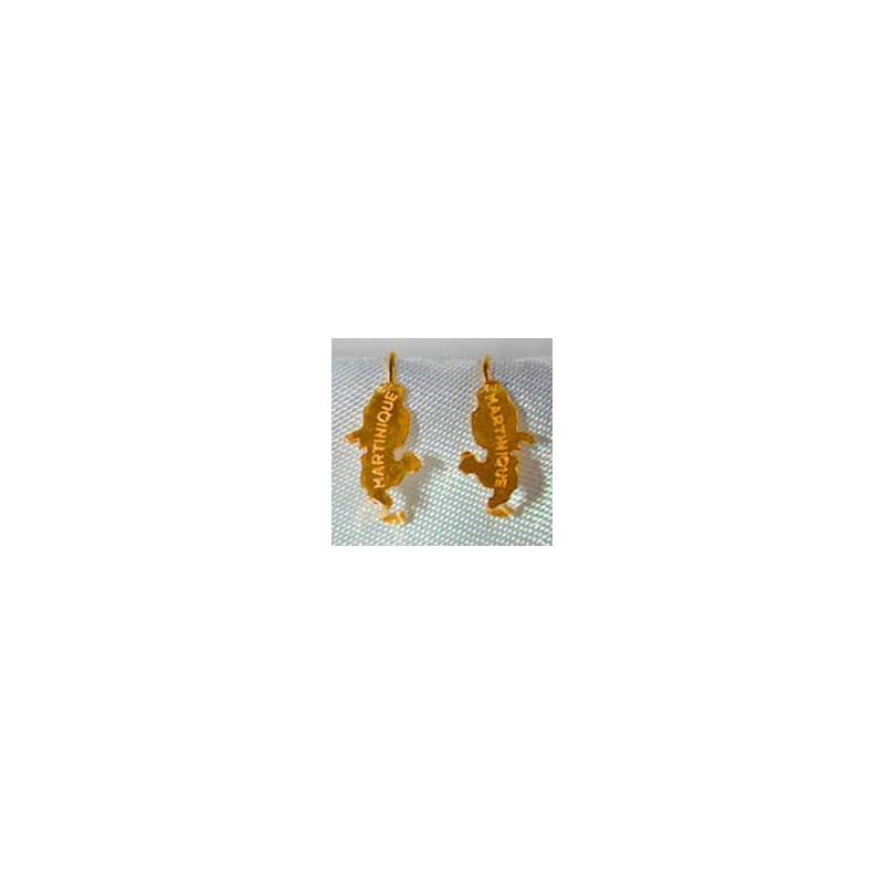 Boucles d'oreilles carte.Or 750/1000