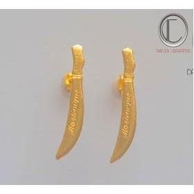 boucles d'oreilles coutelas.Or 750/1000