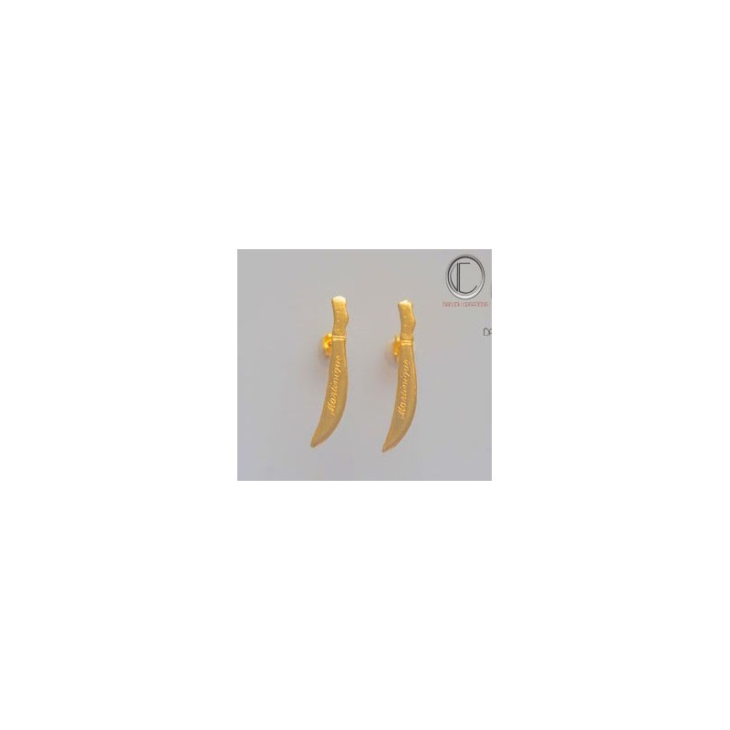 Cutlass Earrings. Gold 750/1000