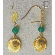 Hat Bakoua earrings. Gold 750/1000