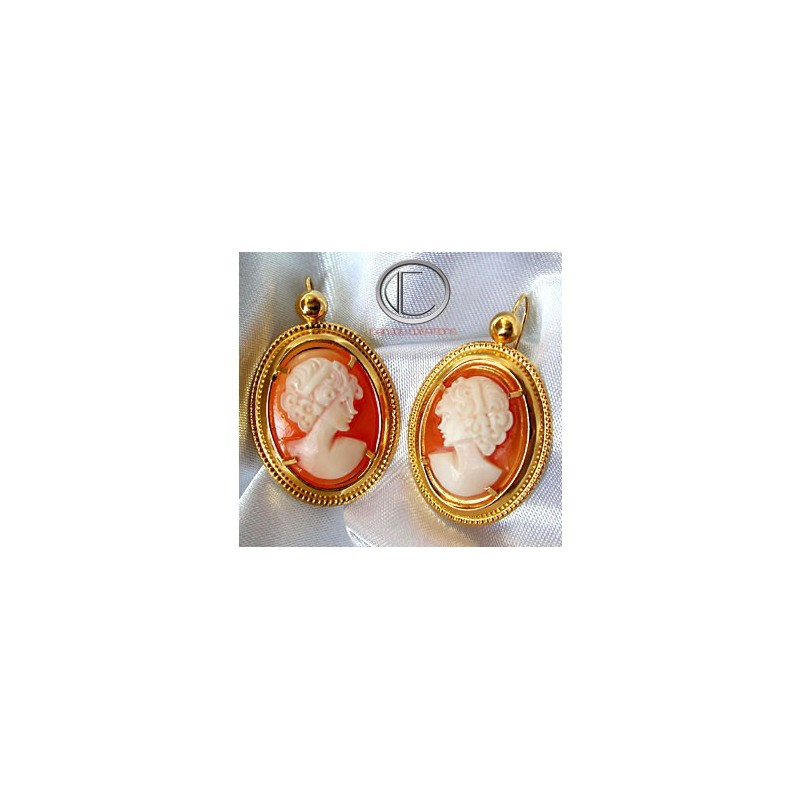 BOUCLES d' OREILLES CAMEE.OR 750/1000