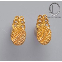 Boucles d'oreilles Ananas.Or 750/1000.