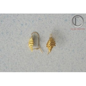 boucles d'oreilles conque.Or 750/1000