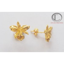 ANTHURIUM EARRINGS.750/1000 GOLD