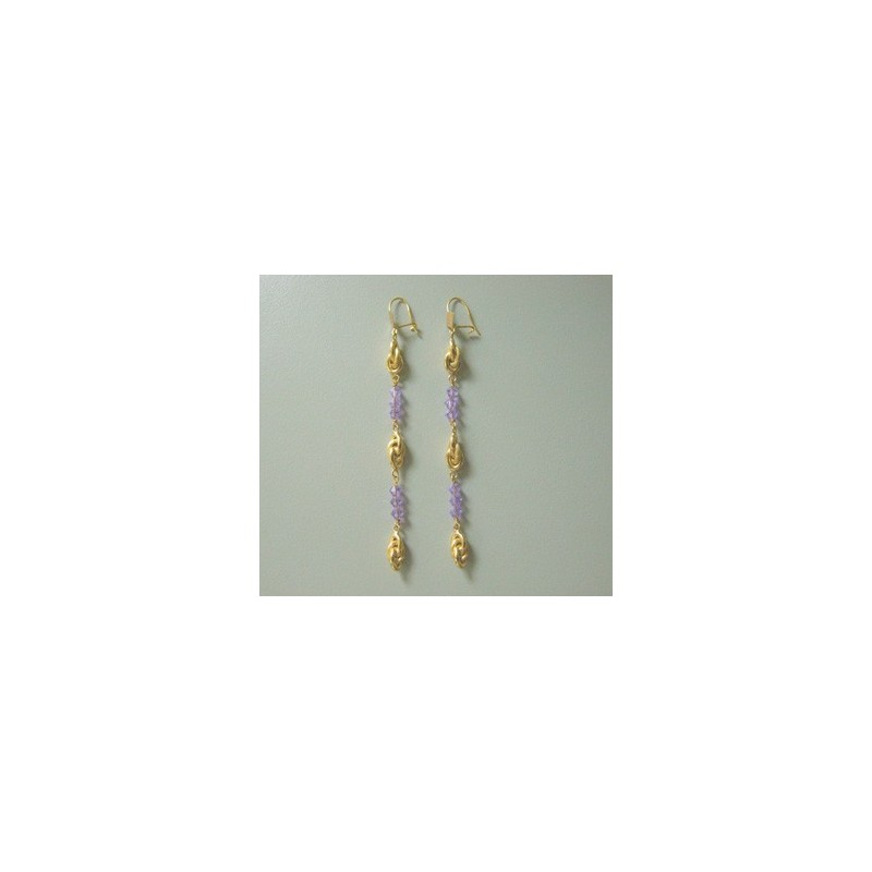 Boucles d'oreilles forcats .Or 750/1000