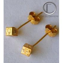 HEBILLA de cubo.Oro 750/1000