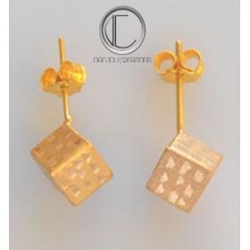 Sarcillo de cubo.Oro 750/1000