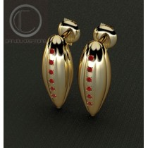 BOUCLES CABOSSES.or 750/1000