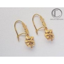 Boucles Hibiscus/carte . OR 750/1000