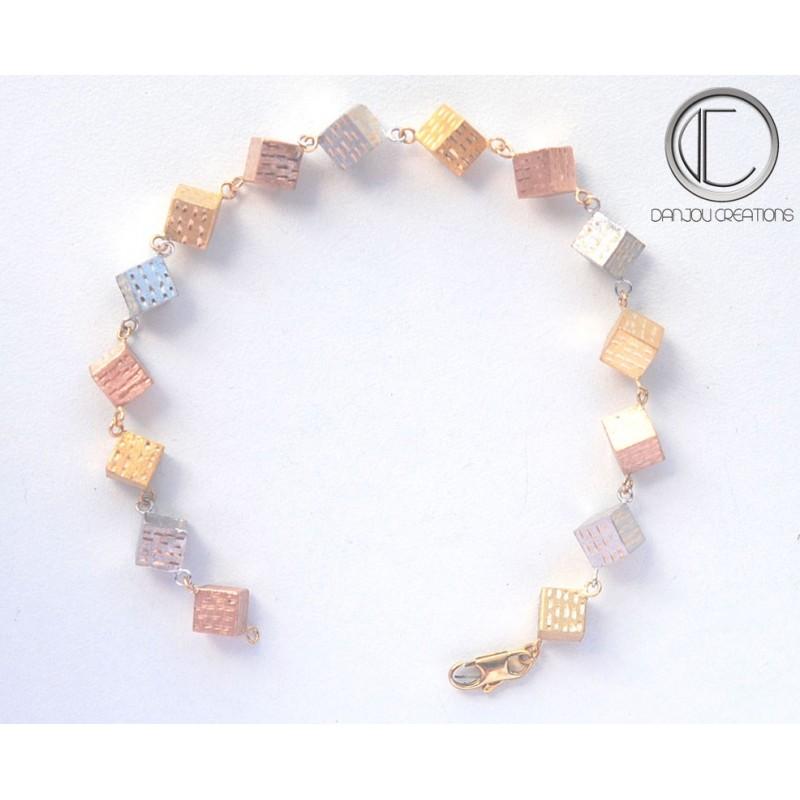 cubic bracelets. gold 18cts