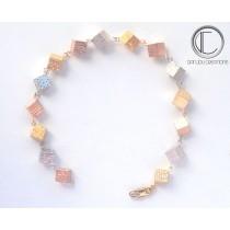 Bracelets cubes.Or 750/1000