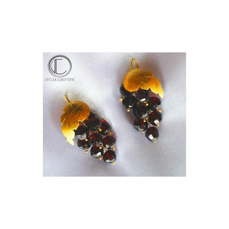 Vine Earrings. Gold 750/1000