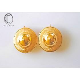 Boucles d'Oreilles Chapeaux.Or 750/1000