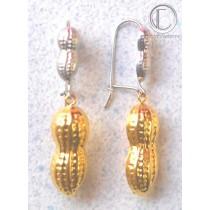 Peanuts Earrings.750/1000 Gold.