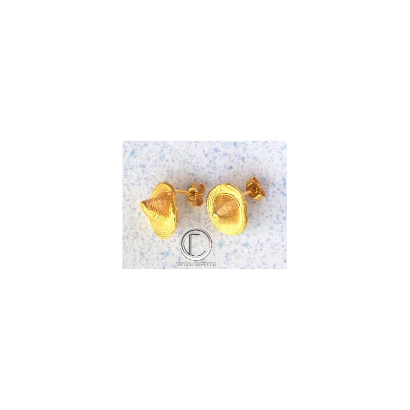 boucles d'oreilles bakoua.Or 750/1000
