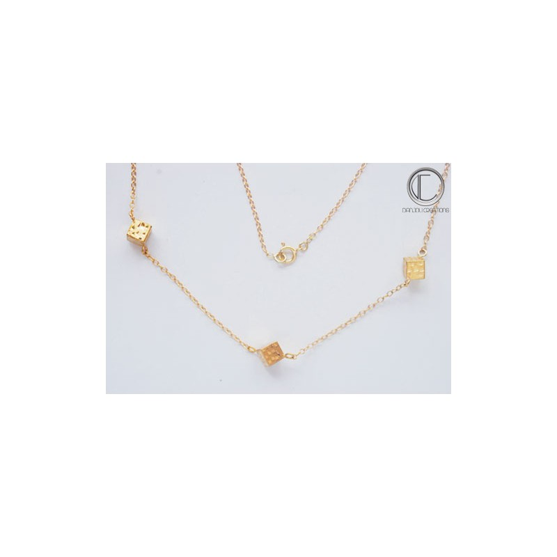 Collier Cubes .Or 750/1000